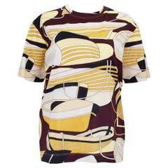 1990s Hermes Nautical Print Cotton Silk Blend T-Shirt
