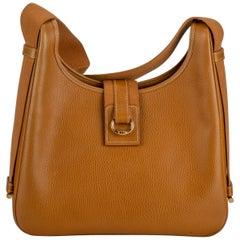 1990's Hermes Vintage Natural Leather Shoulder Bag