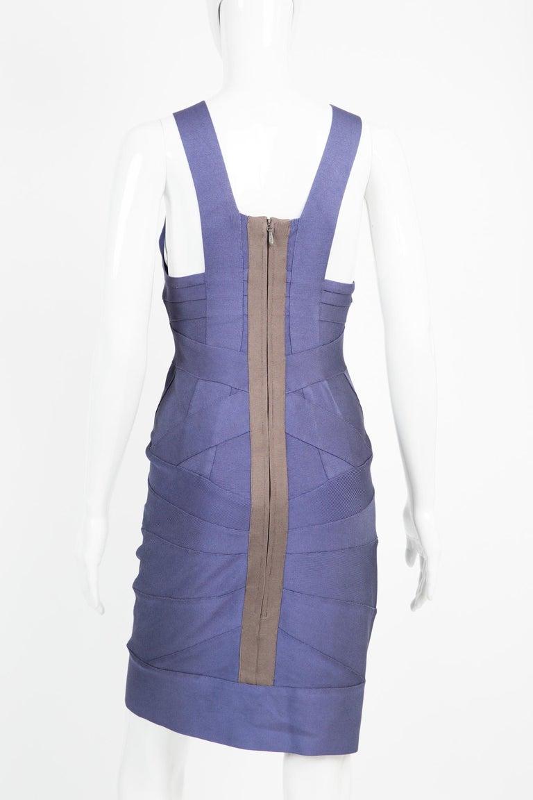 Women's 1990s Herve Leger Purple Bandage Dress For Sale