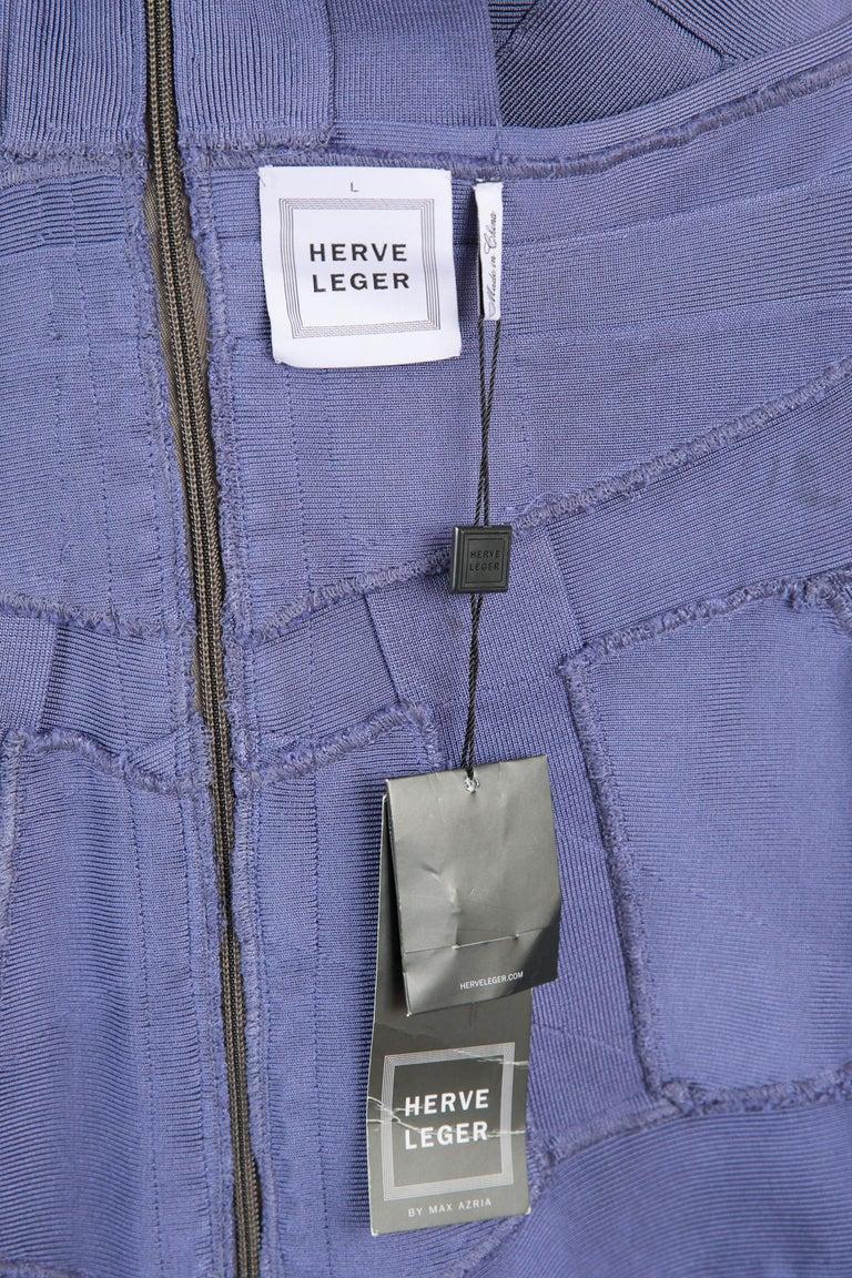 1990s Herve Leger Purple Bandage Dress For Sale 1