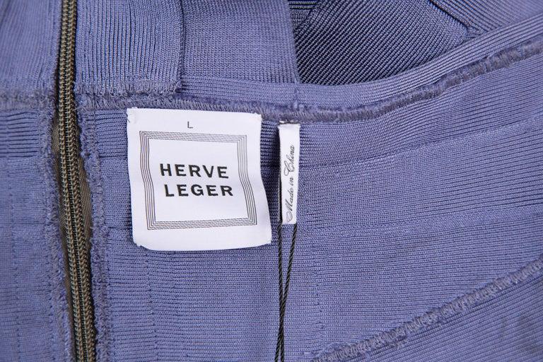 1990s Herve Leger Purple Bandage Dress For Sale 2