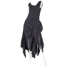 1990s Issey Miyake Black Braided Dress