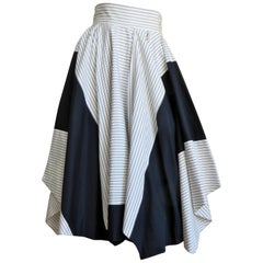 1990s Issey Miyake Color Block Skirt