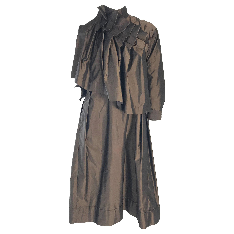 1990s Issey Miyake Oversized Silk Pleated Dress