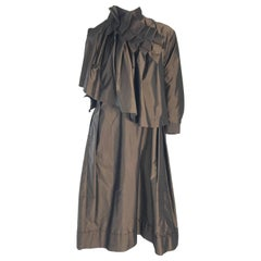 1990s Issey Miyake Oversized Silk Pleated Dress