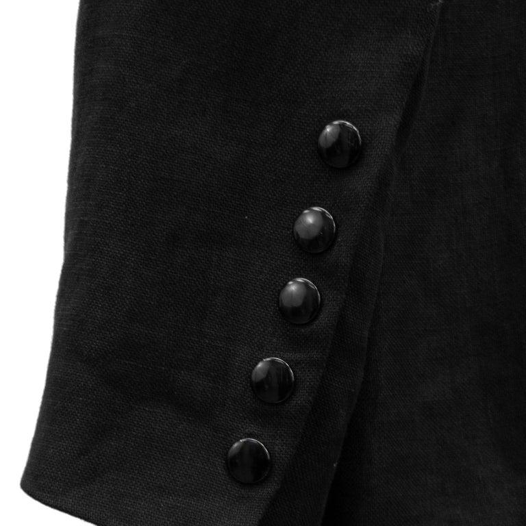 1990s Jean Paul Gaultier Beaded Embellished Black Blazer For Sale 1