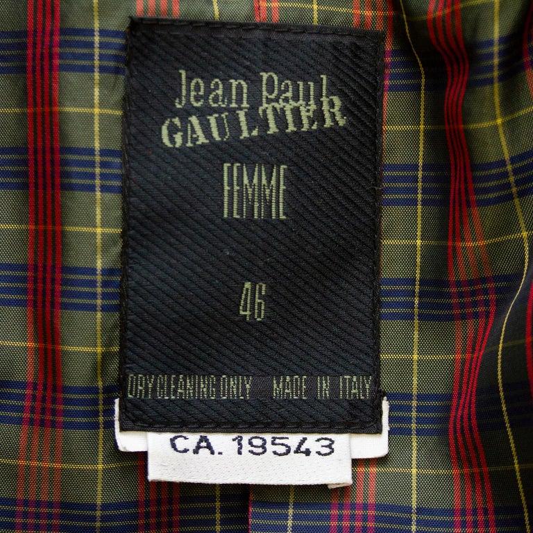 1990s Jean Paul Gaultier Beaded Embellished Black Blazer For Sale 2