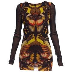 1990's Jean Paul Gaultier Butterfly Fruit Mesh Dress