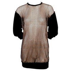 1990's JEAN PAUL GAULTIER double layered fishnet tunic