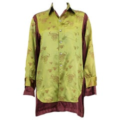 1990s Jean Paul Gaultier Silk Shirt w Bull Print