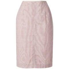 1990s Jean Paul Gaultier Straight Striped Skirt