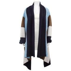 1990s Jean Paul Gaultier Striped Boiled Wool Cardigan