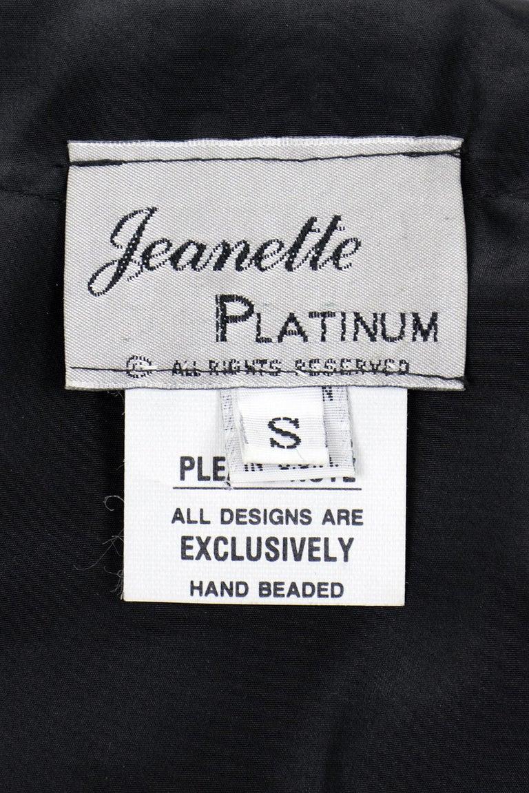 1990s Jeanette Kastenberg Multi-Color Unicorn Sequin Beaded Jacket  For Sale 10