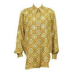 1990s Jil Sander Printed Silk Shirt