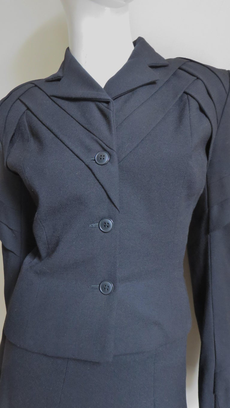 John Galliano Runway Skirt Suit 1990s In Good Condition For Sale In New York, NY
