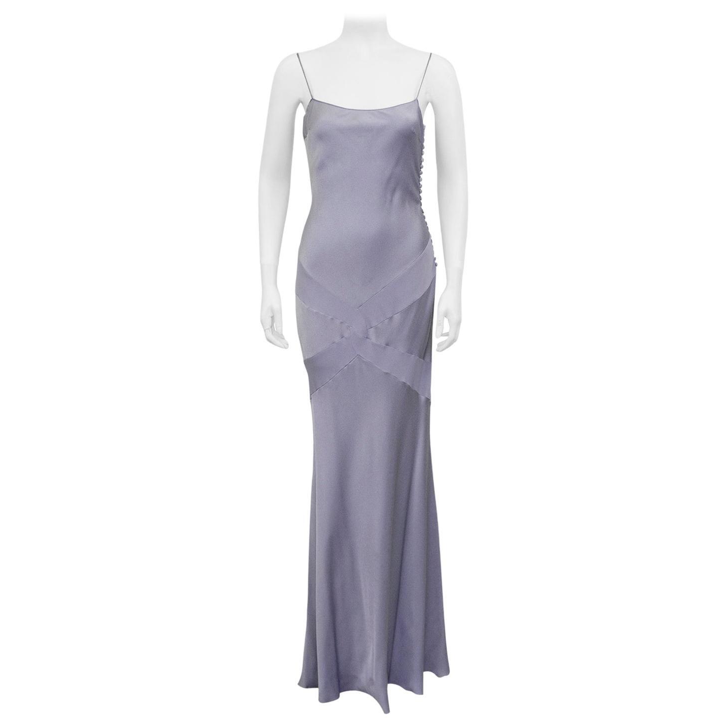 1990s John Galliano Lavender Silk Gown