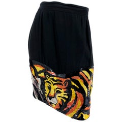 1990s Jungle Pictorial Beaded Skirt