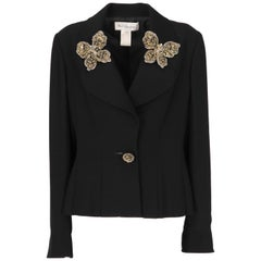 1990s Karl Lagerfeld Black Embellished Jacket