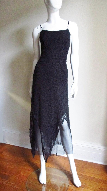 Karl Lagerfeld Silk Lace Slip Dress For Sale 2