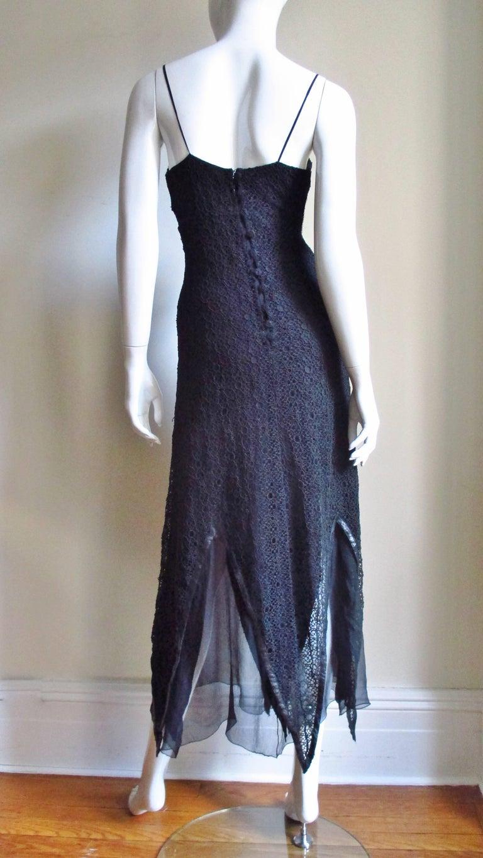 Karl Lagerfeld Silk Lace Slip Dress For Sale 6