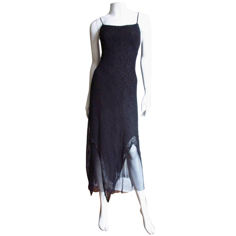 1990s Karl Lagerfeld Silk Lace Slip Dress For Sale At 1stdibs