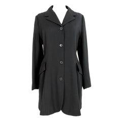 1990s Katharine Hamnett Wool Black Classic Coat