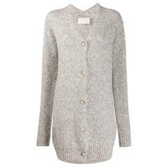 1990s Maison Martin Margiela Grey Wool Cardigan