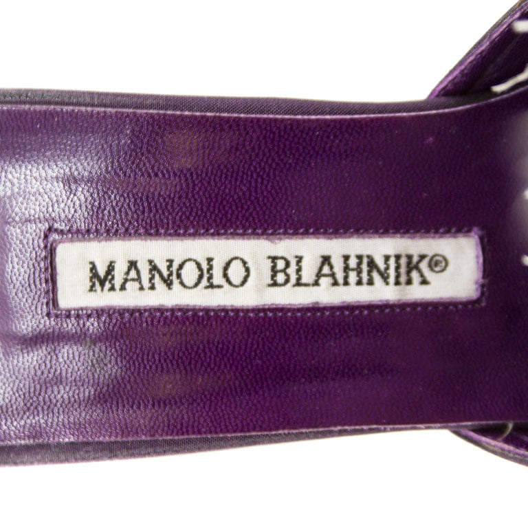 Women's 1990s Manolo Blahnik Feathered Mules For Sale