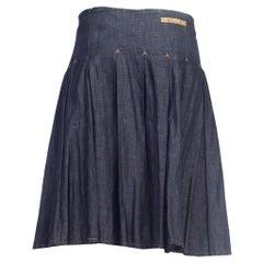 1990S JEAN PAUL GAULTIER Cotton Denim Men's JPG Kilt Skirt