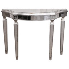 1990s Mirrored Console Table