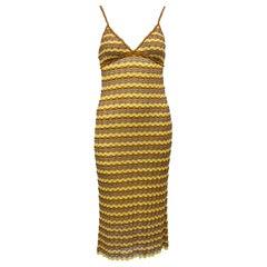 1990s Missoni Yellow Knit Dress