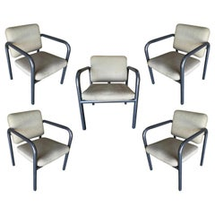 1990s Modernist Tubular Steel Armchair by Kinetics, Set of 5