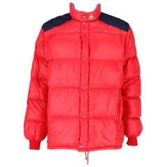 1990s Moncler Red Vintage Quilted Jacket