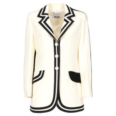 1990s Moschino Black And Ivory Jacket