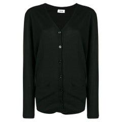 1990s Moschino Black Wool Cardigan-Body