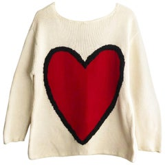 1990s Moschino Cheap and Chic Acid Face Jumper