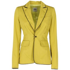 1990s Moschino Cheap and Chic Acid Green Jacket