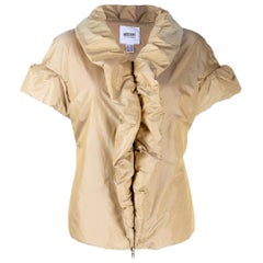 1990s Moschino Cheap and Chic Beige Padded Jacket
