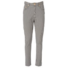1990s Moschino Checked Trousers