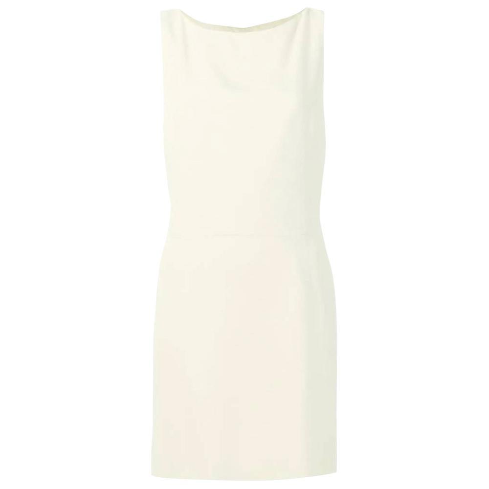 1990s Moschino Cream Short Bow Dress