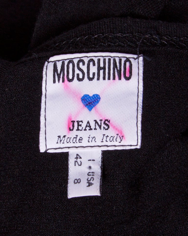 Vintage Moschino Jeans jersey knit shirt dress with a