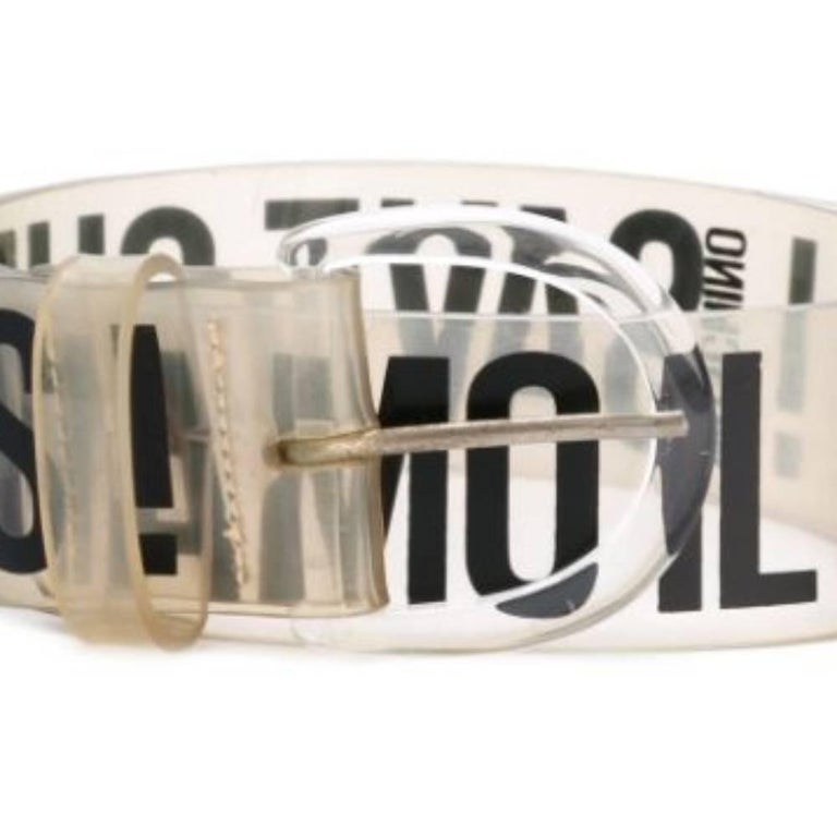 Women's 1990s Moschino Transparent Belt For Sale