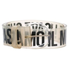 1990s Moschino Transparent Belt