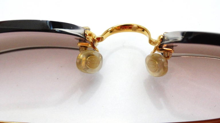 1990s Must De Cartier Pink Ombre Rimless Sunglasses For Sale at 1stdibs
