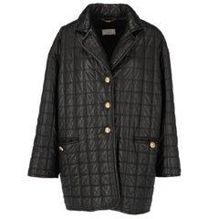 1990s Nazareno Gabrielli Black Leather Jacket