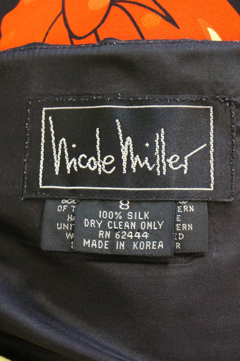 1990s Nicole Miller Silk Pop Art Advertisement Shift Dress For Sale 2