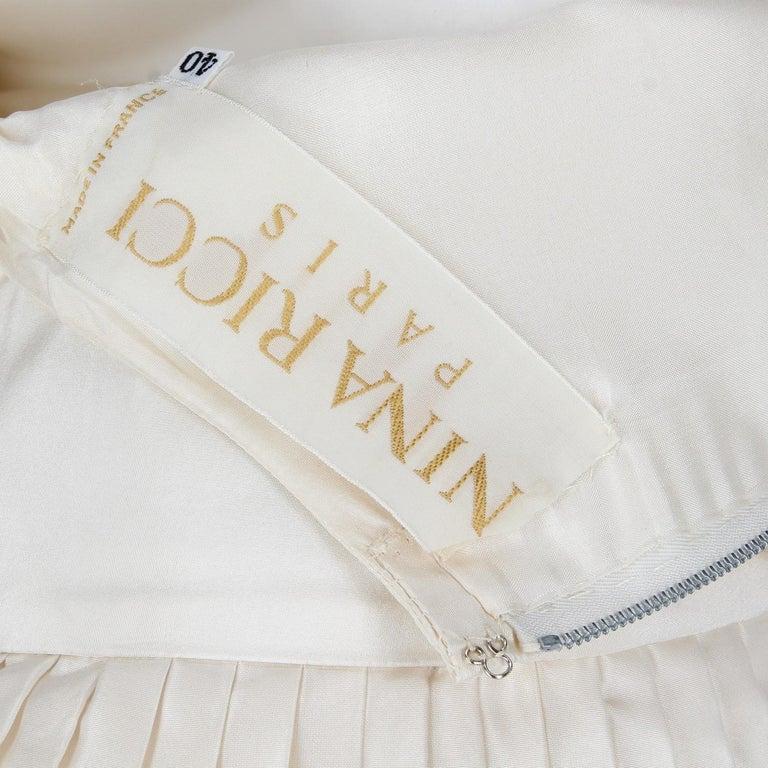 Women's 1990s Nina Ricci Silk Wedding Dress For Sale