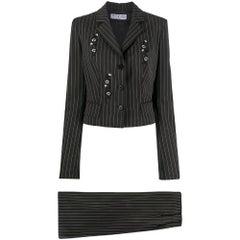 1990s Oppio Jeans Striped Suit
