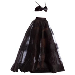 1990's Oscar De La Renta Large Ball Gown Skirt