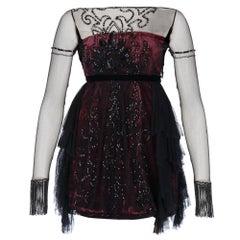 1990s Phylosophy di Alberta Ferretti Embellished Short Dress